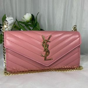 Ysl pink wallet converted wallet on chain